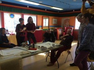 On the last day of the workshop Tashi demonstrated the calligraphy of now-ness