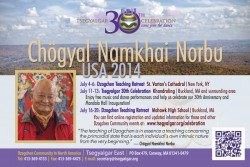 Invitation to Tsegyalgar East's 30th Anniversary and Universal Mandala Hall Inauguration Design by Dan Zegunis