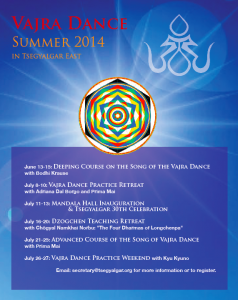 Vajra Dance Summer 2014 Tsegyalgar East – Come Join the Dance