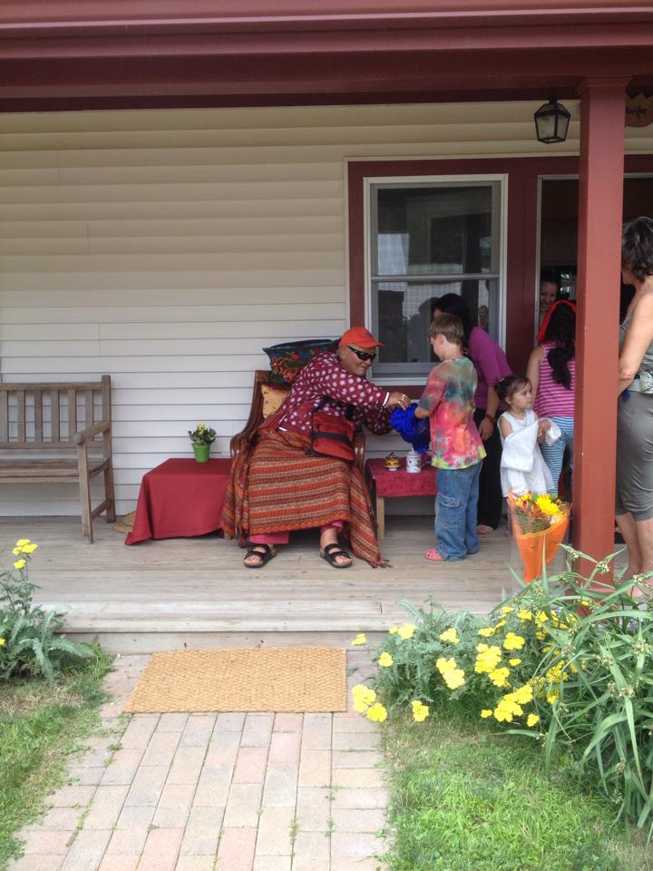 Rinpoche arrives at his home at Lower Khandroling, East Buckland, MA USA on July 8, 2014