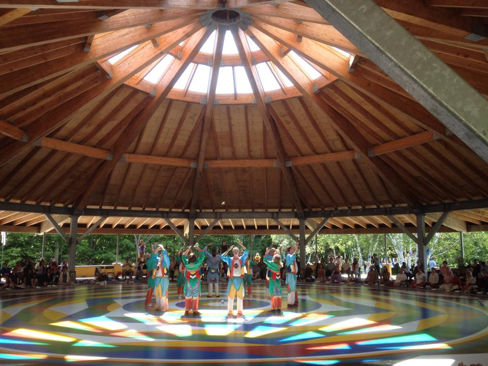 Vajra Dance as part of the Ganapuja and practices to inaugurate the Universal Mandala Hall on Saturday morning July 12, 2014