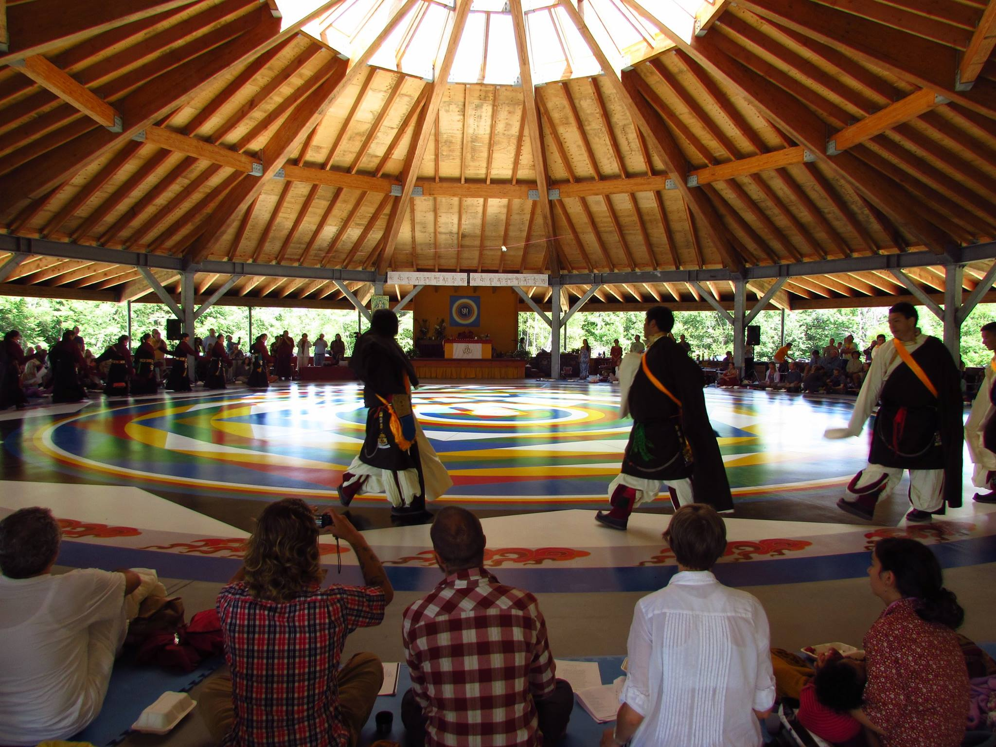 Derghe Dancers at the internal inauguration of the Universal Mandala Hall on Saturday morning July 12, 2014