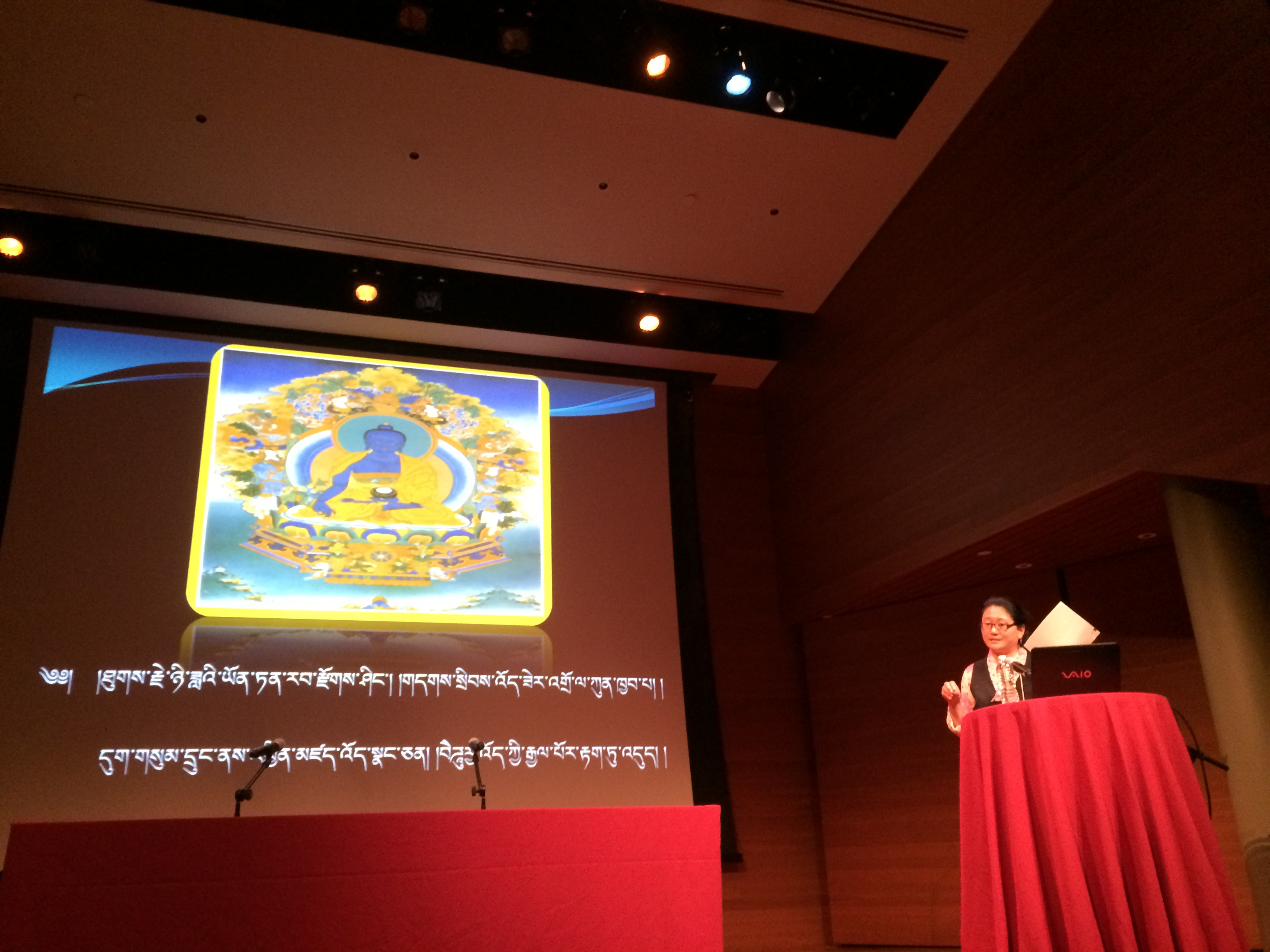 Dr. Kalzang Yangdron presents on Tibetan Medicine at its Best: Mental Illness Care