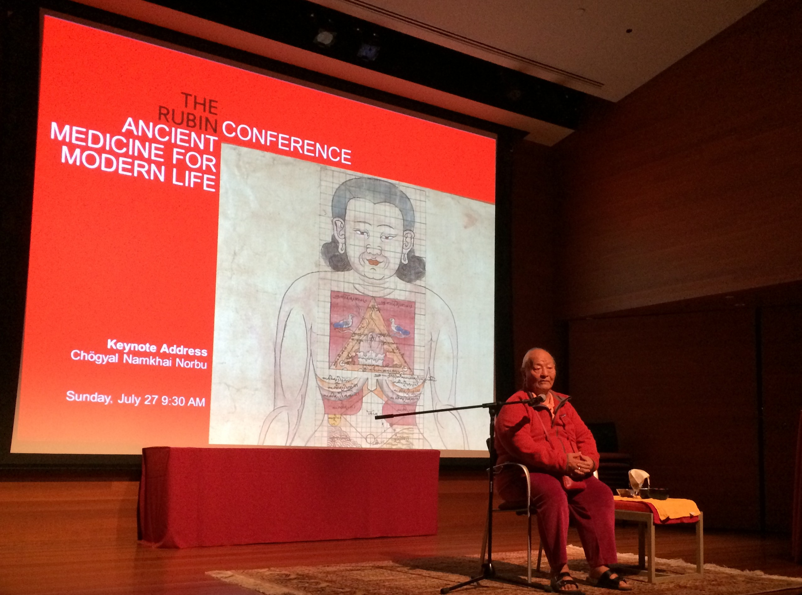 Chögyal Namkhai Norbu delivers Keynote Address