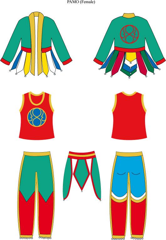 New Pamo Vajra Dance Costume