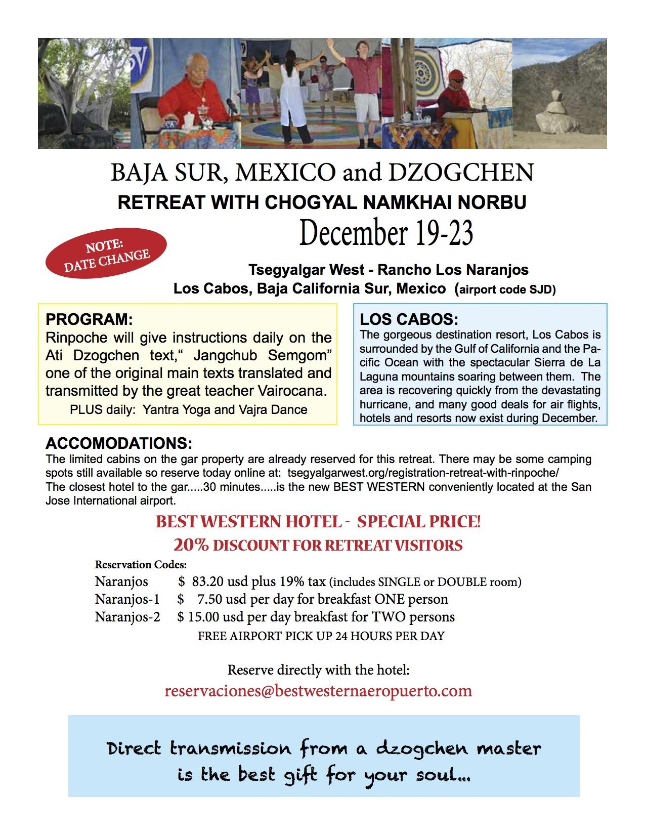 Mexico retreat hotel flyer