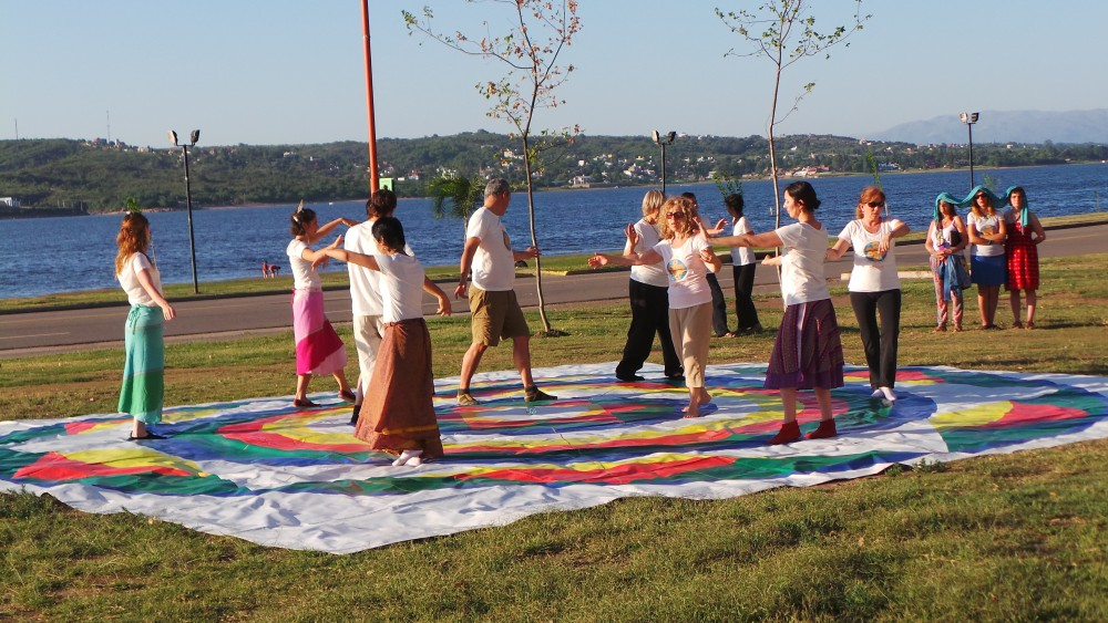 Public presentation of Vajra Dance in Carlos Paz