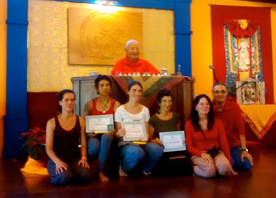 Newly authorized first level Yantra Yoga instructors