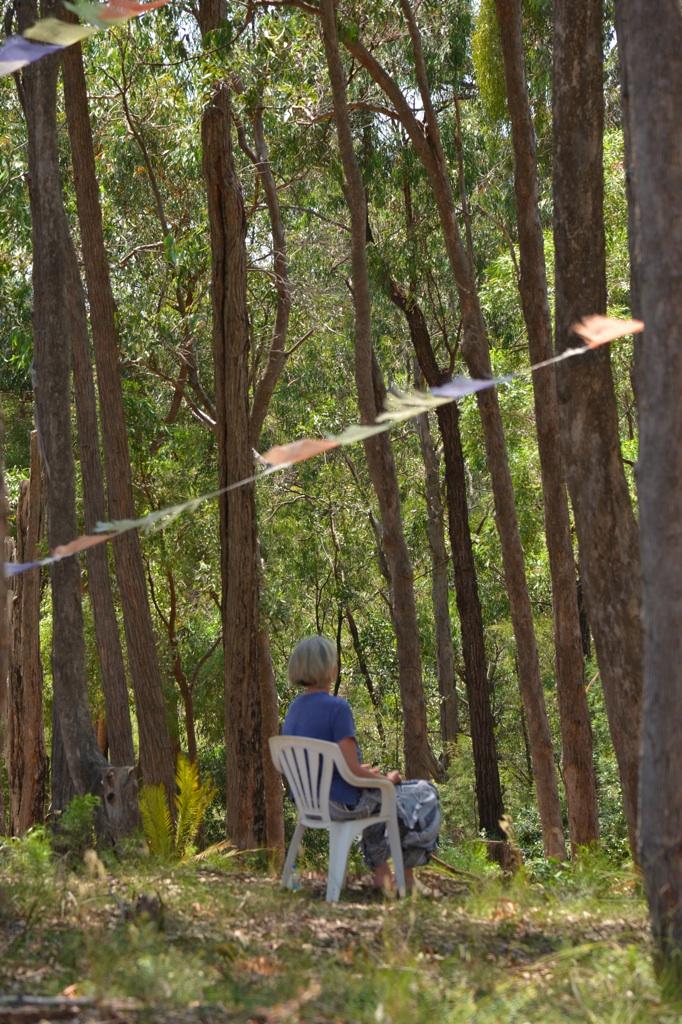 Barbara Robertson practicing in the bush