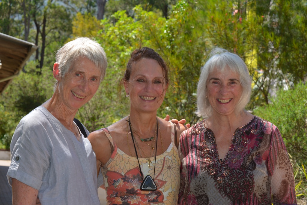 (l to r) Lynn Geary, Vajra Dance Instructor, Elise and Jenny O'Donnell