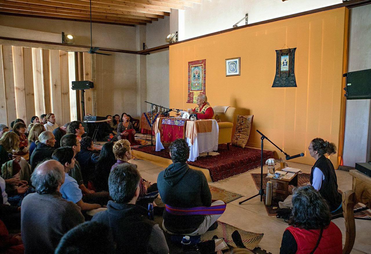 Teaching in new Gonpa