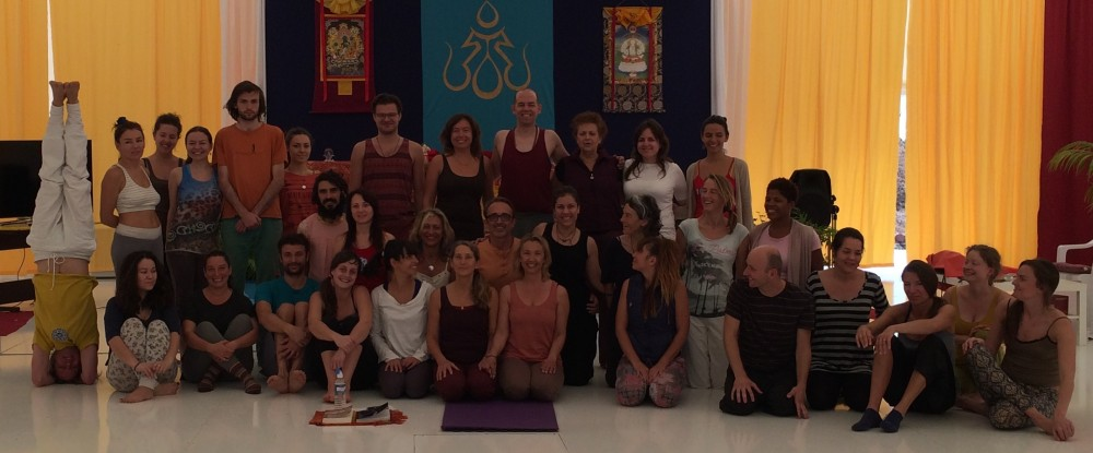 First Level Yantra Supervision by Laura Evangelisti for Lilian Peppa from Greece at Dzamling Gar, Tenerife January 25-29, 2015