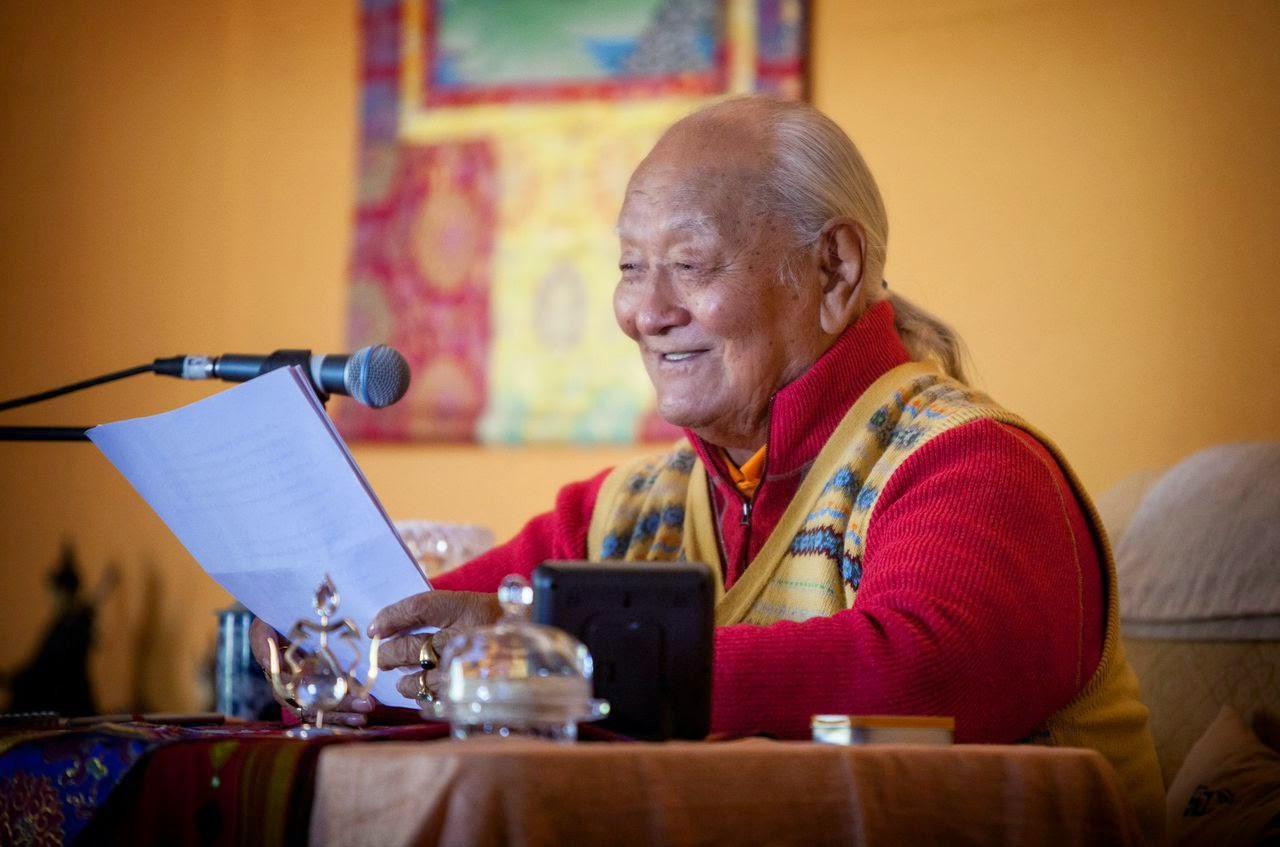 Chögyal Namkhai Norbu teaching in Baja