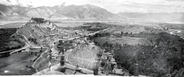 A historic image of Lhasa, Tibet