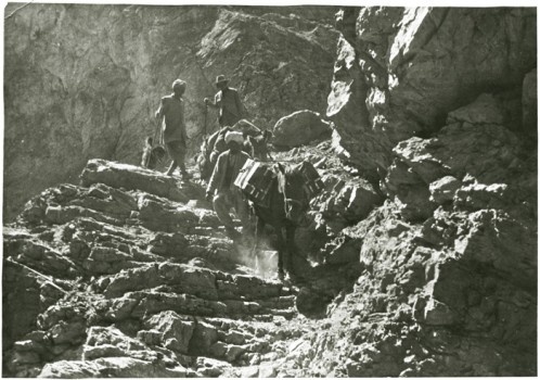 A vintage photo of one of Giuseppe Tucci's expeditions to Tibet