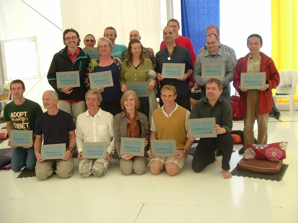 Newly Authorized First Level Santi Maha Sangha Instructors