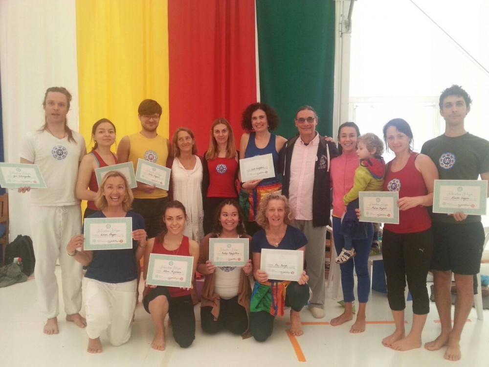 First and Second Level Yantra Yoga Instructors with Laura Evangelisti and Fabio Andrico