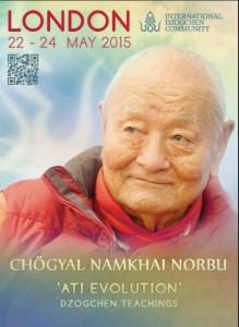 Retreat with Chögyal Namkhai Norbu in May 2015 in UK