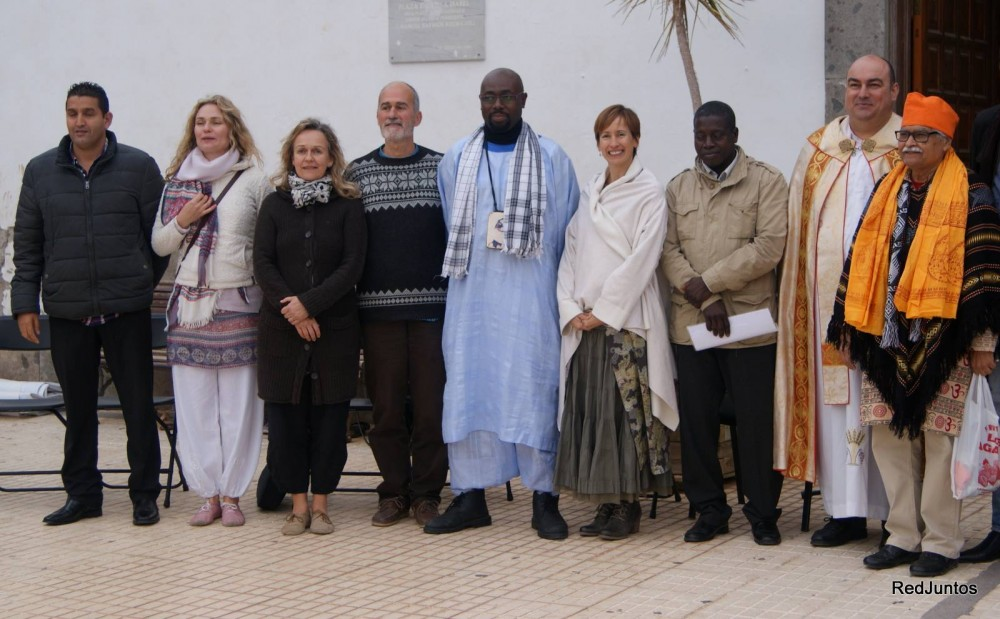 Local Interfaith Participants - 3rd from left Prima Mai and 2nd from left Lenka Tchernobay-Kroh - from the Dzogchen Community