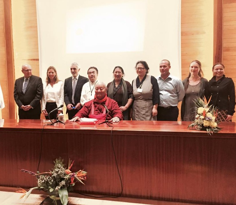 Participants in the Tibetan Medical Conference in Tenerife with Chögyal Namkhai Norbu, the Keynote Speaker