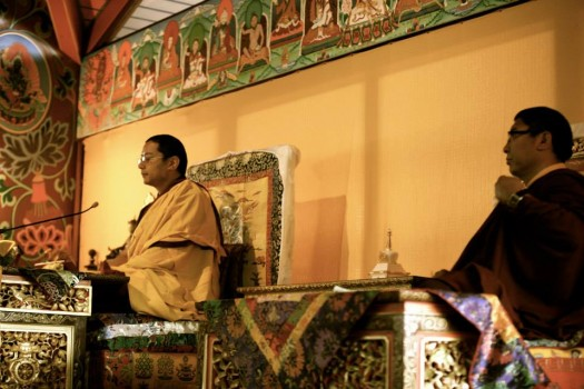 Khamtrul Rinpoche and Tsoknyi Rinpoche. Photo Jamyang Oliphant