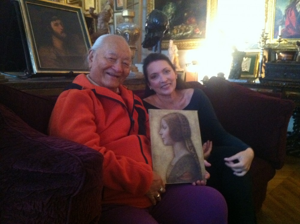 Rinpoche and Peter's wife Kathleen Onorato with the Princess