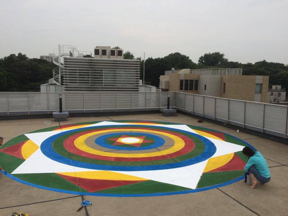 Mandala on the rooftop in Tokyo