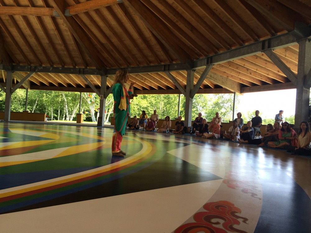 Training in the Dance of the Twelve A's with Prima Mai at the Mandala Hall at Upper Khandroling