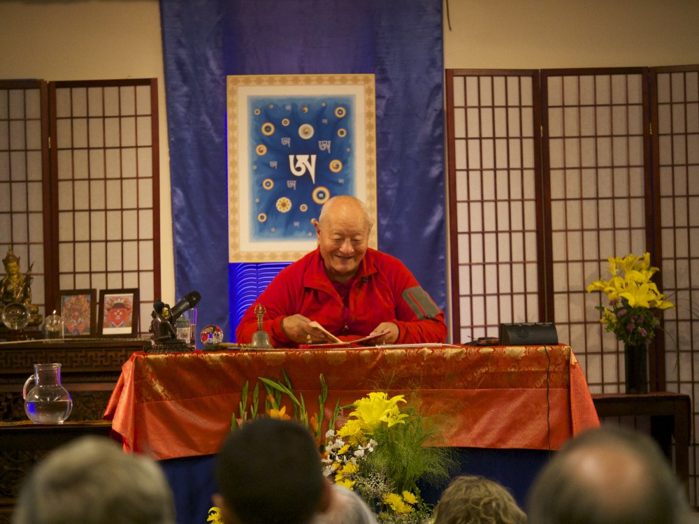 Rinpoche giving the lungs at Naropa