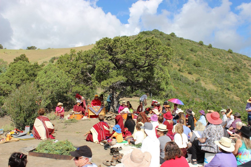 The future cremation grounds were consecrated with a traditional Tibetan Sang offering of smoke from dampened juniper, concluding with the Song of the Vajra.