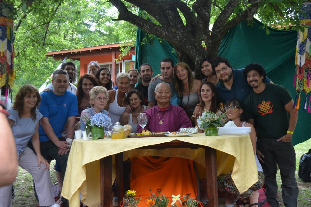 Together with Rinpoche and Rosa