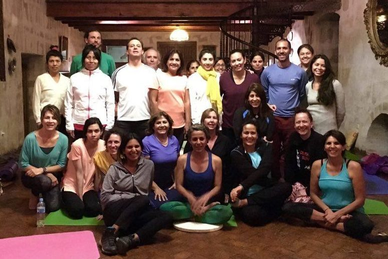 "Beginner's Course of Yantra Yoga with Jimena Piedra in Arequipa, Perú. The course took place in a  traditional old house made of ""sillar"" in the city of Arequipa on May 20 and 21, 2016."