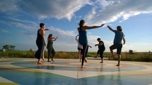Dancing on the mandala at Merigar East