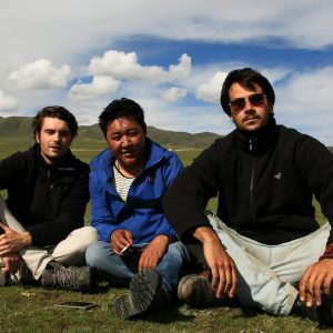 Basilio and Emanuele with a Tibetan nomad