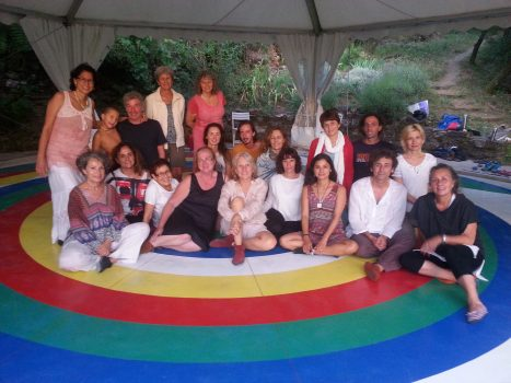 group photo of participants on the mandala