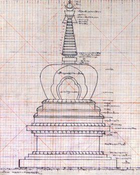Grid of the stupa in estonia