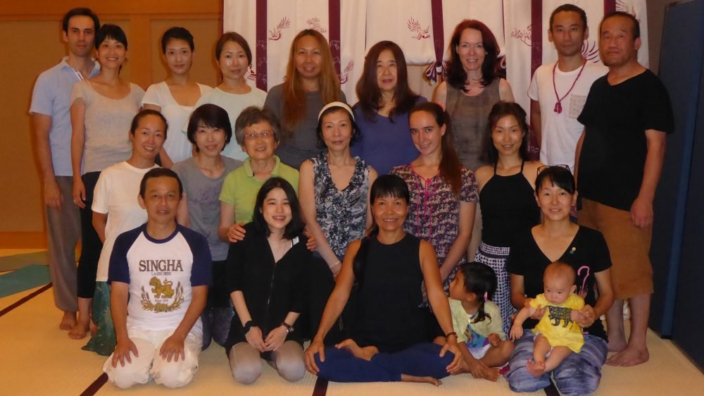 Yantra Yoga retreat at Arashiyama, Kyoto, Japan from September 17-19 and & 22-23, 2016 with Oni McKinstry. The retreat was held in a gallery/museum where they showcase kimonos from the past and present. The location is in the famous Arashiyama area west of downtown Kyoto.