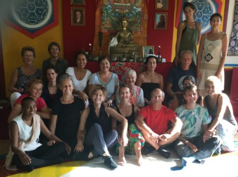 august group photo dance courses at karma ling