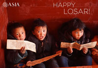 Wish Happy Losar to a Tibetan Child