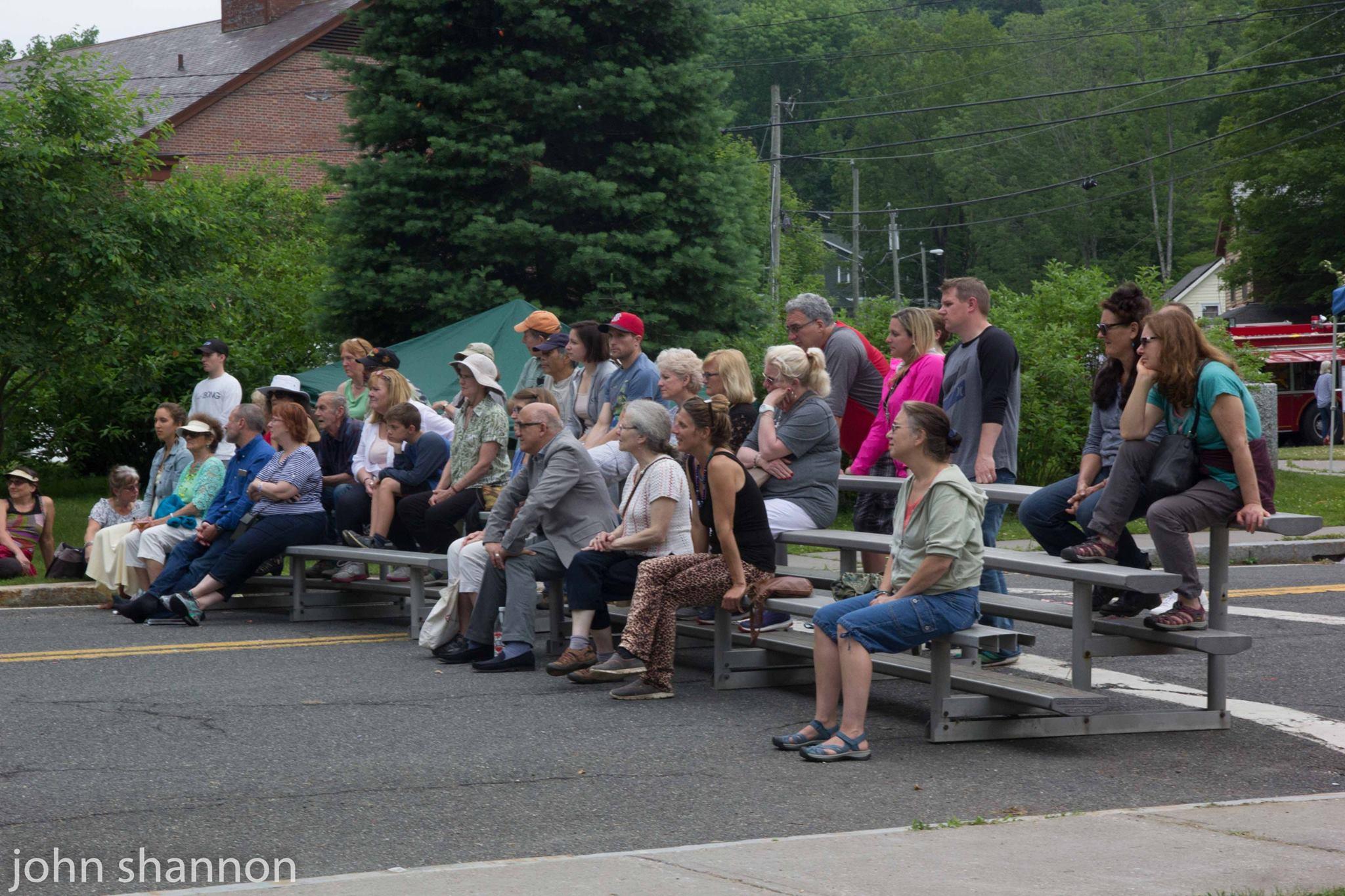 Crowd watching demos