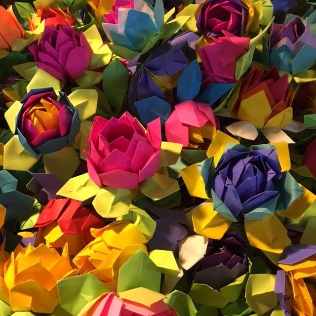 Paper lotuses