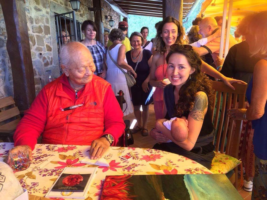 Chiara meets Rinpoche at Merigar West.