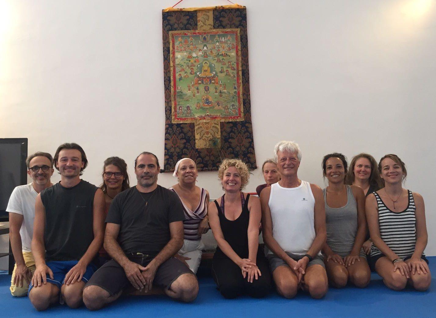 Eight Movements of Yantra Yoga at Dzamling Gar
