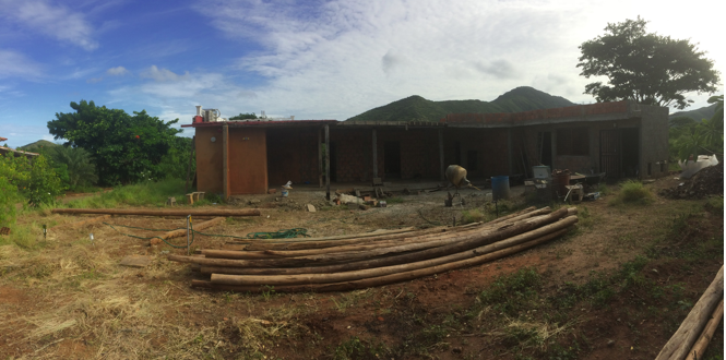 View of the building project of Rolo and Marina's house