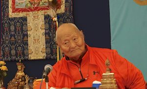 A Birthday Greeting for Rinpoche on December 8, 2017 at Dzamling Gar!