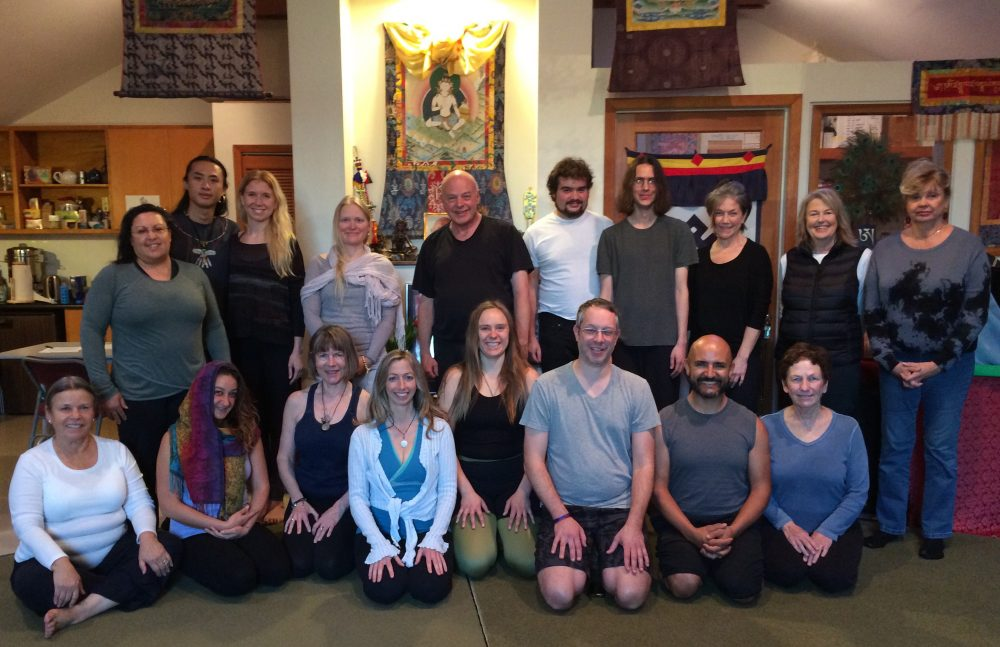Introduction to Yantra Yoga with Jillian Patricia and Luke Karamol at Dondrubling, Berkeley on February 3, 2018.
