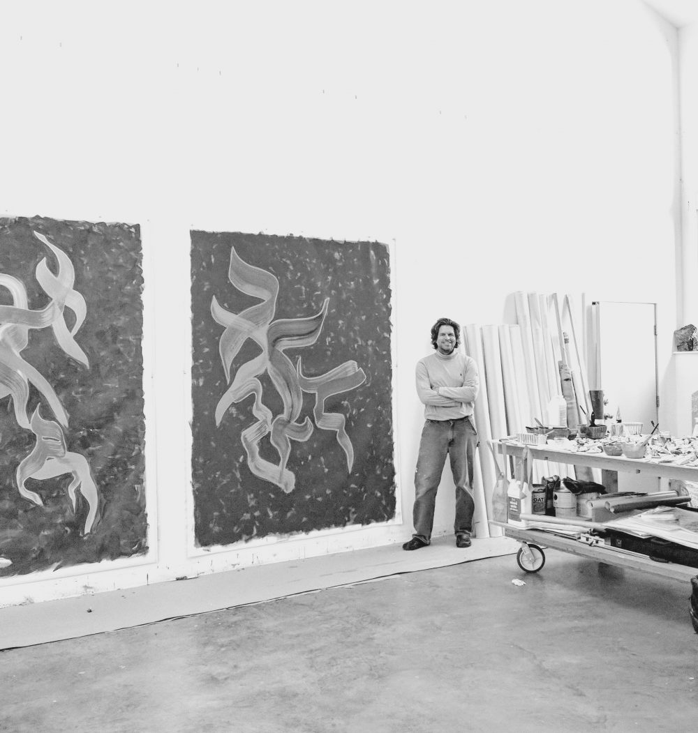 James Fox in his studio