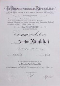 master namkhai norbu commander