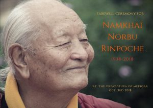 Farewell Ceremony to Honor Chögyal Namkhai Norbu