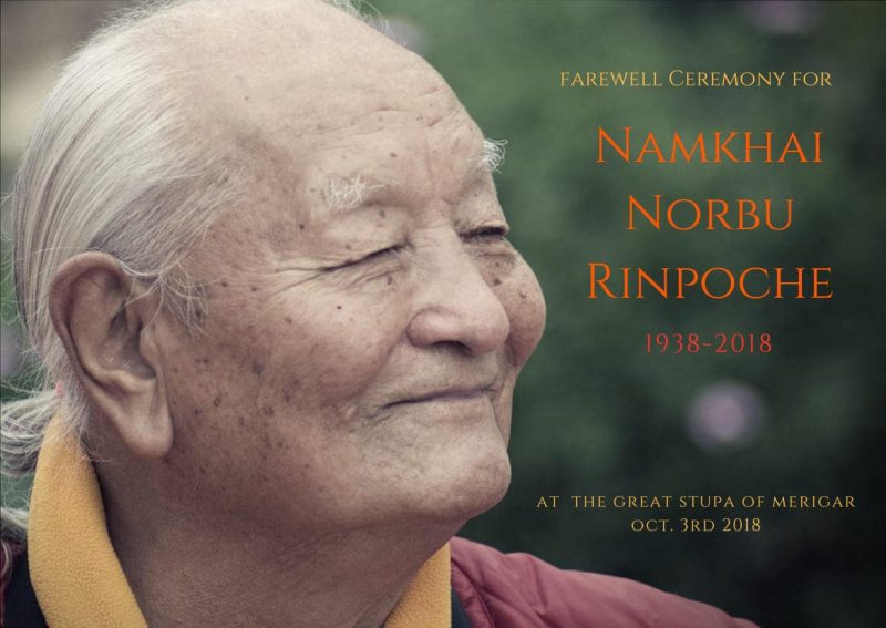 farewell ceremony chogyal namkhai norbu